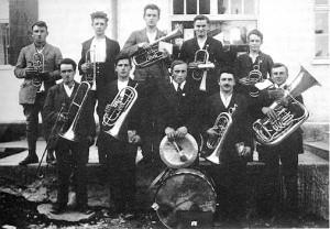 Musikkapelle im Jahr 1921